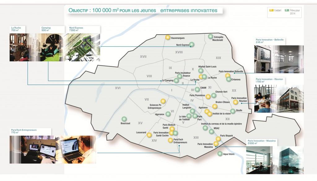 La liste des incubateurs et pépinières à Paris