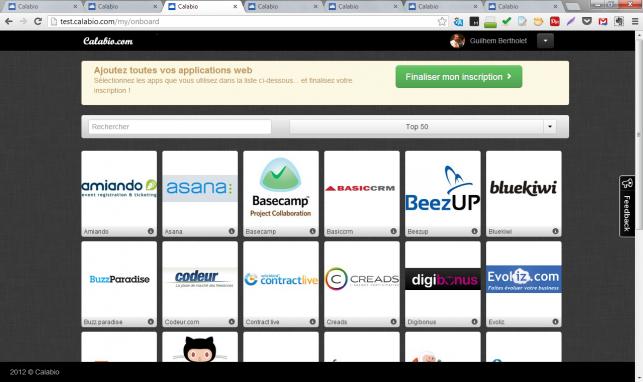 L'outil de recherche et de sélection de logiciels, tout en intéractions .js...